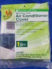 """Duck Brand Standard Air Conditioner Cover 27""""w 18""""h 25"""" deep 4.7mil window unit"""