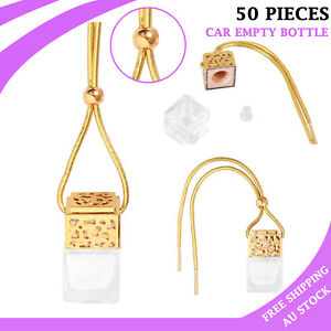 50X Car Empty Perfume Hanging Bottle Air Freshener Diffuser Gadget Ornament 8ML
