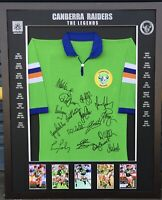 Blazed In Glory - Canberra Raiders Legends - NRL Signed & Framed Jersey