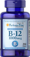 Puritans Pride Vitamin B-12 1000 Mcg Timed Release Caplets, 250 Count