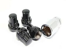 4 Black Wheel Lug Nut Locks W/Key 14x1.5mm SUV Range Rover HSE Sport LR3 LR2