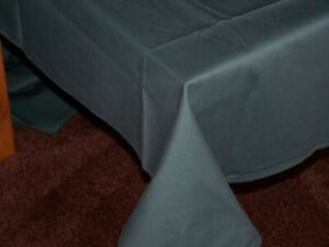 """Restaurant Quality Bottle Green Cotton Tablecloth 108"""" x 60""""."""