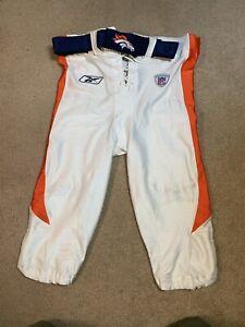Reebok 2002 NFL Team Issued Pants Sz 40 Denver Broncos Authentic Game Belt