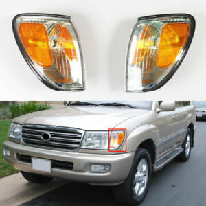 A pair Front Turn Signal Light Corner Lamp Fit For Toyota Land CruIser 98-07