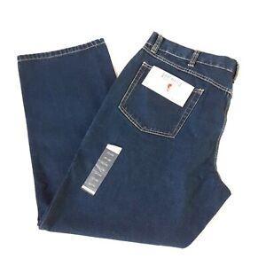 Mens Bass Pro RedHead Relaxed Fit Dark Blue Denim Jeans Sz 40x32 New