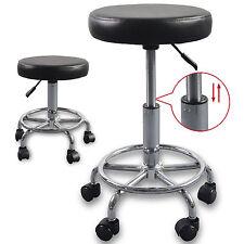 Adjustable Hydraulic Rolling Swivel Stool Tattoo Facial Massage Salon Spa Black