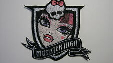MONSTER HIGH DRACULAURA FACE BADGE EMBROIDERED PATCH BADGE SEW OR IRON ON