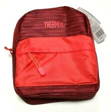 Red Thermos Insulated Lunch Bag Tote w Handle BPA & PVC Free with PEVA Lining