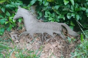 Metal Horse Garden Stake Yard Lawn Ornament Outdoors Equine Stable Barn Home