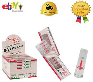 David Ross Slim 5mm Tar  Filters Tips  No.1 in ITALY 120 FILTERS  24 PACKS