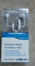 Plantronics Backbeat 216 Ear-buds Immersive Stereo for Music+Calls White NIB