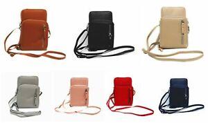 Damen Handy Tasche Geldbörse Umhängetasche Crossbody 2in1 kleine Handtasche P122