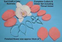 Phalenopsis Moth Orchid Cutter & Veiner Cake Decorating Flower Gum Paste Tools