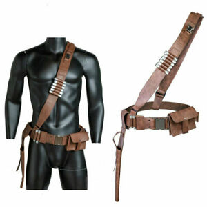 The Mandalorian Leather Belt Leg Gun Package Holster Cosplay Prop Han Solo Belt