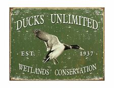 "Ducks Unlimited - Since 1937 Metal Tin Sign 16""W x 12.5""H Free Shipping"