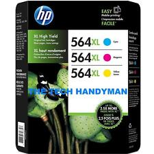3-PACK HP GENUINE 564XL Color Ink (NO RETAIL BOX) PHOTOSMART 5510 5515 5520 5525