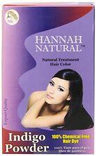 Polvo De Índigo Puro Para Teñir El Cabello Coloración Natural Hannah Natural