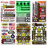 60++ Teilig Vinyl-Aufkleber Motorrad Logo Racing Yamaha Suzuki Honda Arai Helm