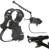 360°Bicycle Bike Cycling Clip Clamp Mount Holder For Led T65 Flashlight SH