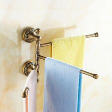 Retro Antique Brass Bath Rack Accessory Towel Rail Holder Storage Rack Holder