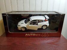 AutoArt 1999 Ford Focus WRC Test Car 1:18 Scale Rally Diecast Street Model White