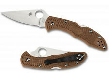 Spyderco C11FPBN Delica 4 Folding Knife Flat Ground FRN