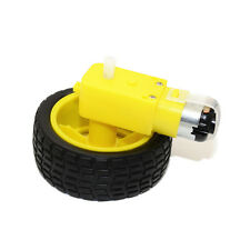 DC3-6V 1:48 Gear Motor Gearbox Kit With 65mm Rubber Wheel For Arduino Hobbyist