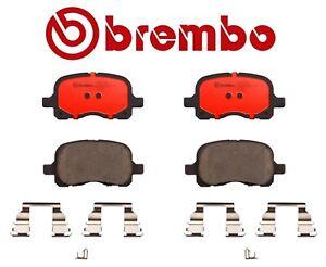 For Toyota Corolla Chevy Prizm 1.8 L4 Front Brake Pad Set Ceramic & Clips Brembo