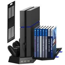 Vertical Stand for PS4 Slim/Regular Cooling Fan Controller Charging Station