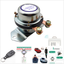 SIlver Car Battery Switch Wireless Remote Control Latching Relay Kill 12V 180A