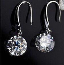 Plated Zircon Crystal Hook - Usa Women Dangle Earrings Wedding Quality Silver