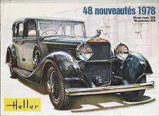 CATALOGUE MAQUETTE HELLER 1978 - VOITURE - BATEAU - AVION - MILITAIRE