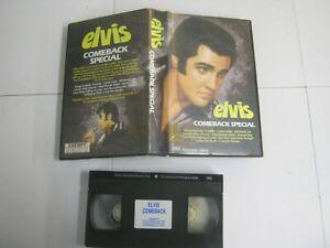 Vhs Music Tape ELVIS PRESLEY COMEBACK SPECIAL Large Box 1907