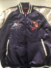 Japanese Souvenir Jacket (M) Blue/White Mt. Fuji