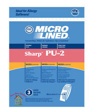 SHARP PU-2 UPRIGHT REPLACEMENT VACUUM BAG 3PK-----Buy 2 Packages Get 1 FREE