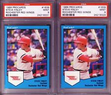 1989 STEVE FINLEY Procards R. Red Wings Rookie/XRC 2 Card Lot PSA 9 MINT!