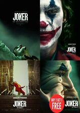 Joker 2019 Cool  Movie Multiple Posters Print A0-A1-A2-A3-A4-A5-A6-MAXI C426