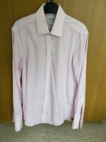 "Charles Tyrwhitt Pink Double Cuff Shirt Extra Slim Fit 15.5"" 33"