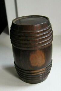 Miniature Pocket Travel Ink Bottle Turned Wood & Glass Screw Top Lovely