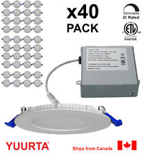 """YUURTA (40-pack) 4"""" 10W Dimmable Recessed Ceiling Slim LED Downlight (Pot Light)"""