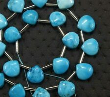 21 Piece Best Quality Turquoise Gemstone Smooth Heart Shape Beads Size 9-11 MM