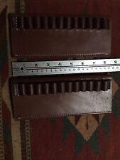 Lot of Two 45Colt 44Mag Caliber Bullet Cartridge Belt Slide Leather Holder