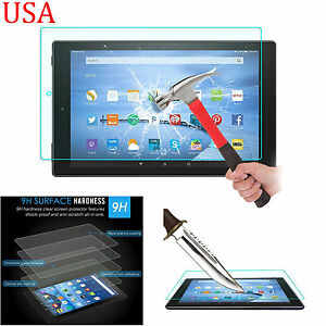 """PREMIUM Tempered Glass Screen Protector for Amazon Kindle Fire hd 10"""" 2015"""