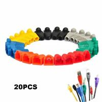 20pcs Network Jack Plug Cat5 Cat6 RJ45 Connector Modular End Cap Boot Head HQ