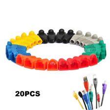 New 20pcs Network Jack Plug Cat5 Cat6 RJ45 Connector Modular End Cap Boot Head
