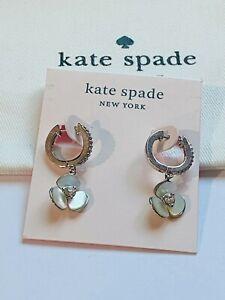 KATE SPADE CLASSIC Zircon STUD EARRINGS silver