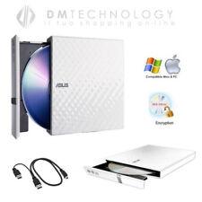 Masterizzatore e Lettore esterno Dual Layer USB Asus Bianco-nero Sdrw-08d2s-u Bianco