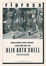 J0895 Olio Auto Shell invernale - Pubblicità grande formato - 1940 Old advert