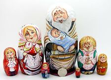 Baptism in Russian Orthodox Church 7 stacking dolls Sergeyeva Christening Gift