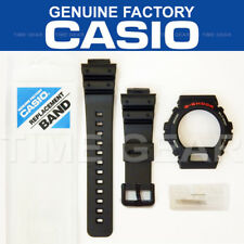 CASIO GENUINE G-SHOCK BLACK BAND AND BEZEL COMBO & PINS BARS FOR DW-6900 DW-6600